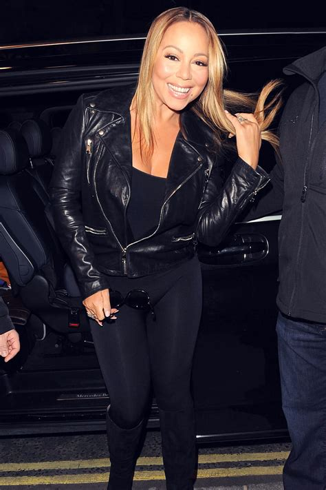 Mariah Carey out in London - Leather Celebrities